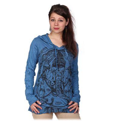 Damska koszulka Sure z kapturem Angry Ganesh Blue | S, M, L