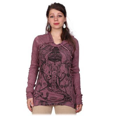 Damska koszulka Sure z kapturem Angry Ganesh Purple | S, M, L