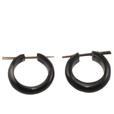 Kolczyki etno pierścionek wąskie