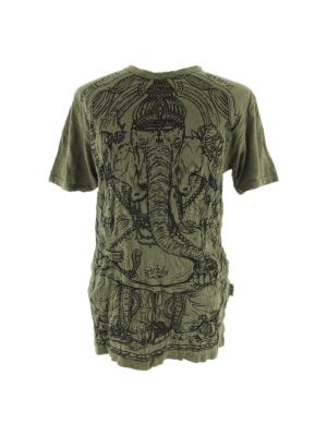 T-shirt męski Sure Angry Ganesh zielony | M, L, XL, XXL