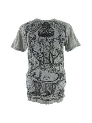 T-shirt męski Sure Angry Ganesh szary | M, L, XL, XXL