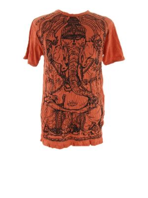 T-shirt męski Sure Angry Ganesh pomarańczowy | M, L, XL, XXL