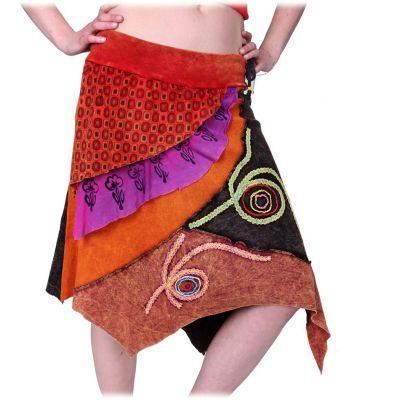 Spódnica Deveshi z haftem owiec