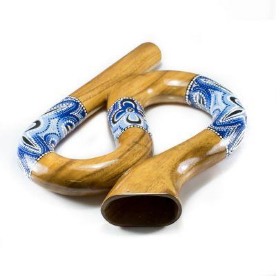 Didgeridoo w kształcie asa w kolorze niebieskim