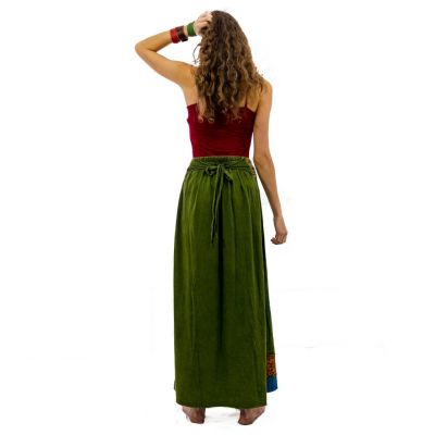 Długa haftowana spódnica w stylu etno Ipsa Hijau