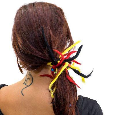 Dready Czerwono-żółto-czarny