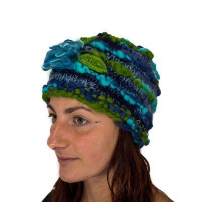 Wełniana czapka Indah Pirus