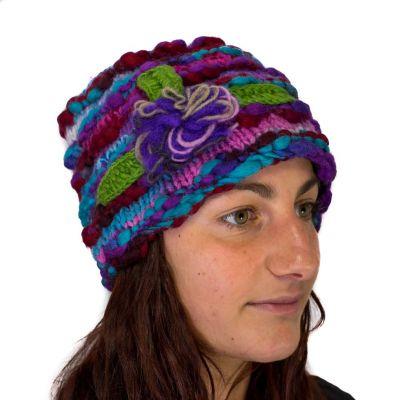 Wełniana czapka Indah Ungu
