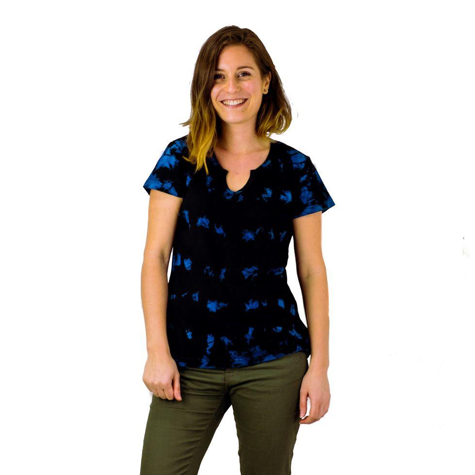 T-shirt damski z krótkim rękawem Benita Blue Nepal