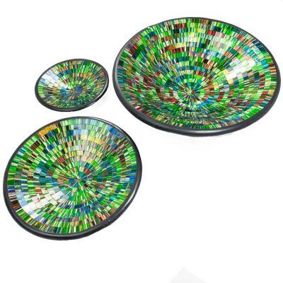 Berkilau Zielona miska, okrągła