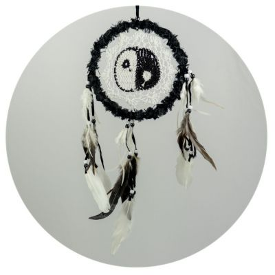 Łapacz snów Yin&Yang Black