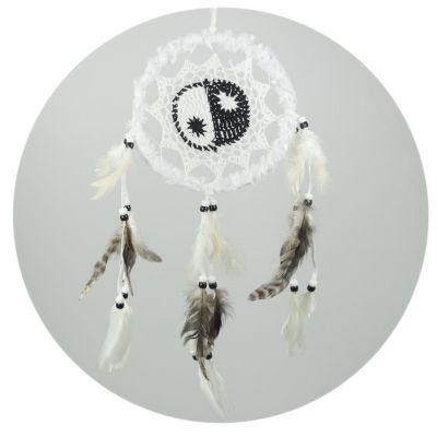 Łapacz snów Yin&Yang White