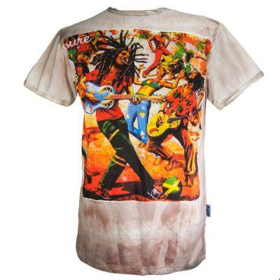 Brązowa koszulka Bob Marley