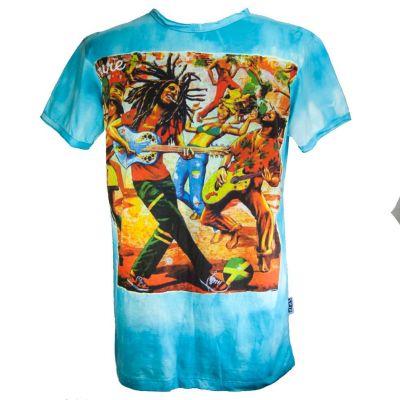 Turkusowa koszulka Bob Marley