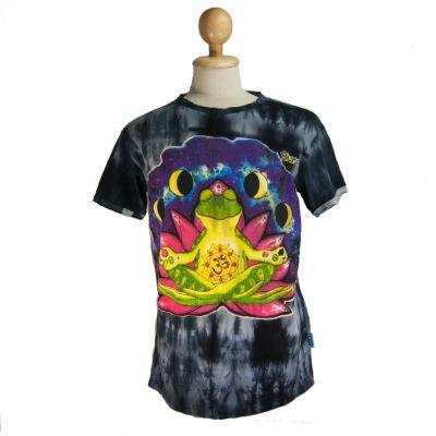 Koszulka Medytująca Żaba Czarna