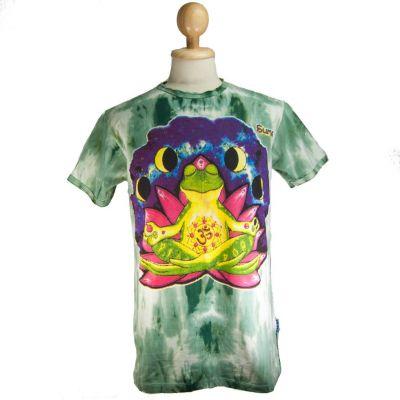 Koszulka Medytująca Żaba Zielona