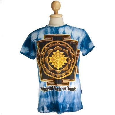 Koszulka Sri Yantra Blue