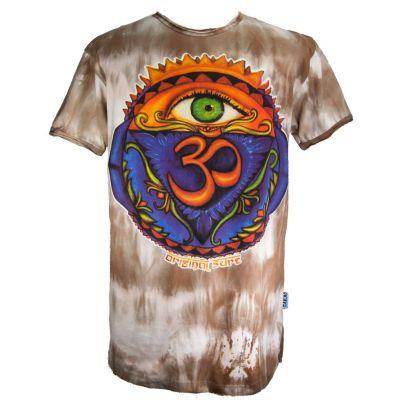 T-shirt w kolorze brązowym Third Eye
