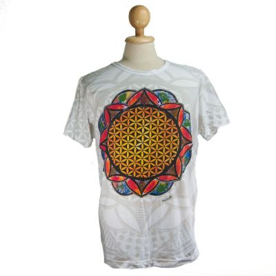 T-shirt Flower of Life Biały