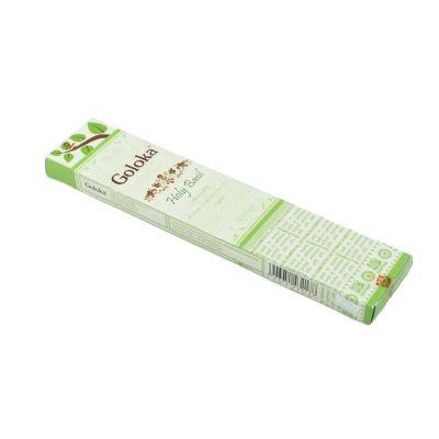 Goloka kadzidełka ze świętą bazylią | Pudełko 15 g, Opakowanie zawiera 12 pudełek w cenie 10