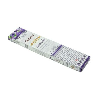 Goloka Lavendar kadzidełka | Pudełko 15 g, Opakowanie zawiera 12 pudełek w cenie 10