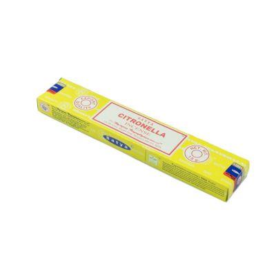 Kadzidełka Satya Citronella | Pudełko 15 g, Opakowanie zawiera 12 pudełek w cenie 10