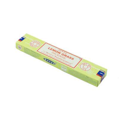 Satya Lemon Grass kadzidełka | Pudełko 15 g, Opakowanie zawiera 12 pudełek w cenie 10