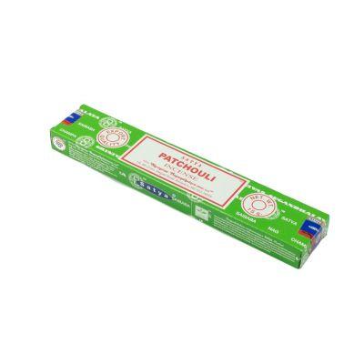 Kadzidełka Satya Patchouli | Pudełko 15 g, Opakowanie zawiera 12 pudełek w cenie 10