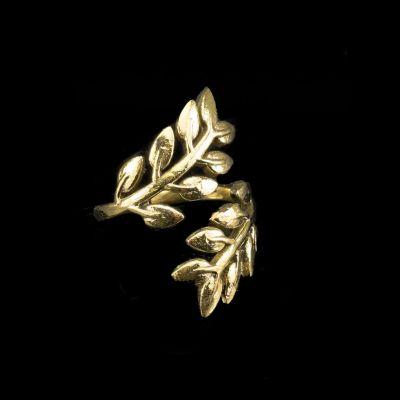 Pierścionek z mosiądzu laurowego