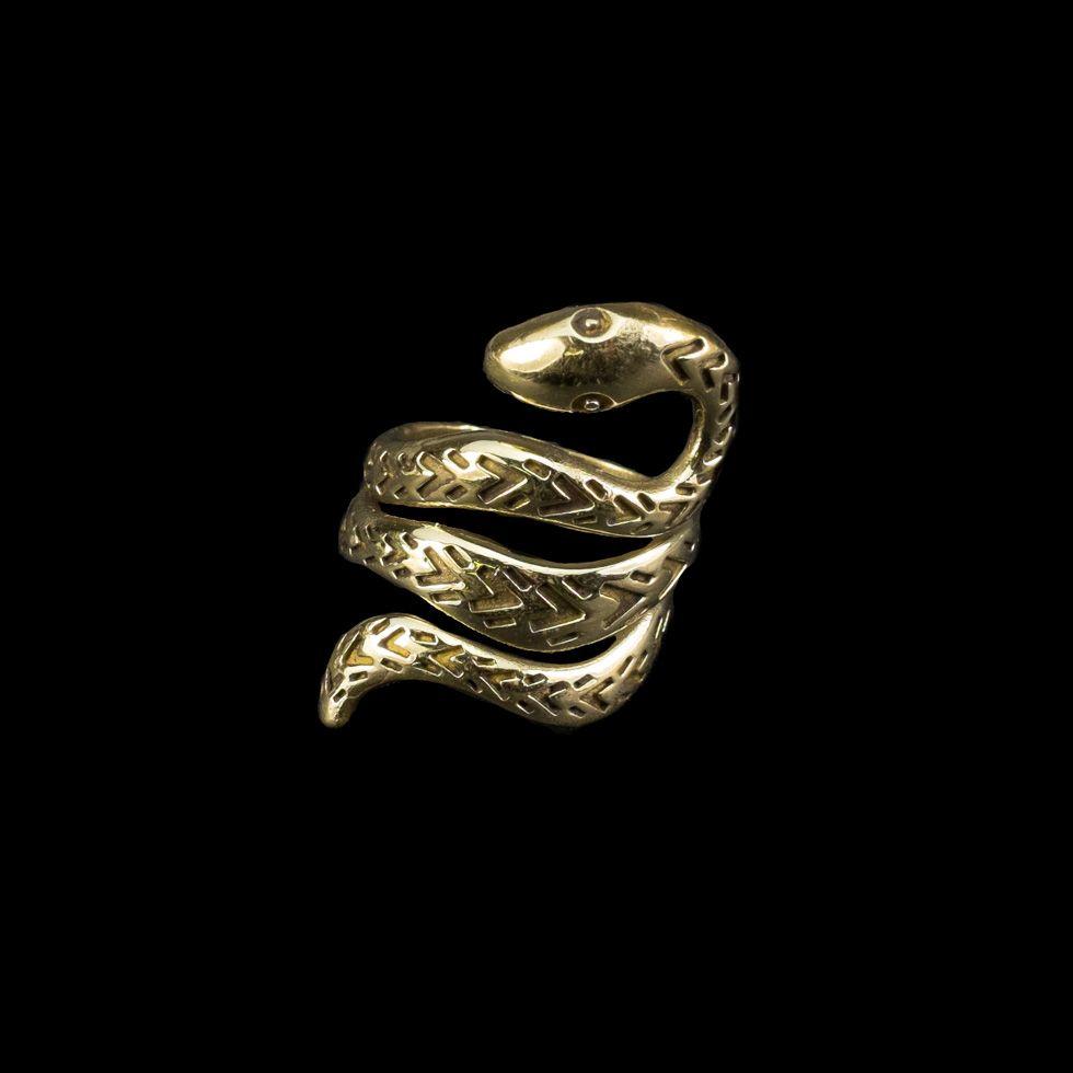 Mosiężny pierścień Viper