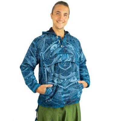 Męska bluza etniczna Jantur Saku Biru | M, L, XL, XXL