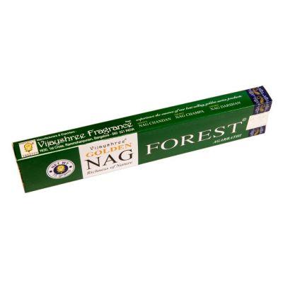 Kadzidełka Golden Nag Forest | Pudełko 15 g, Opakowanie zawiera 12 pudełek w cenie 10