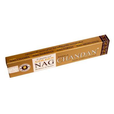 Kadzidełka Golden Nag Masala Chandan | Pudełko 15 g, Opakowanie zawiera 12 pudełek w cenie 10