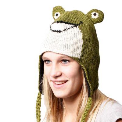 Wełniany kapelusz Żaba   S, M, L