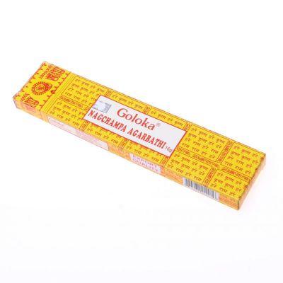 Nagchampa - kadzidełka Goloka | Pudełko 16 g, Opakowanie zawiera 12 pudełek w cenie 10