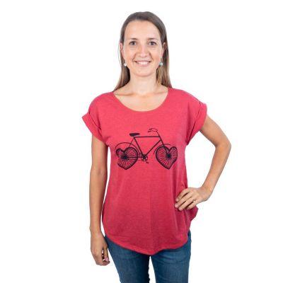 T-shirt Darika Love Bike Czerwony