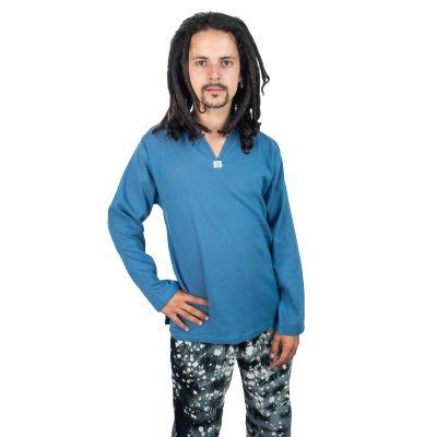 Kurta Abiral Blue - męska koszula z długimi rękawami | M, L, XL, XXL, XXXL