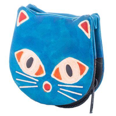 Portfel dla kota - niebieski