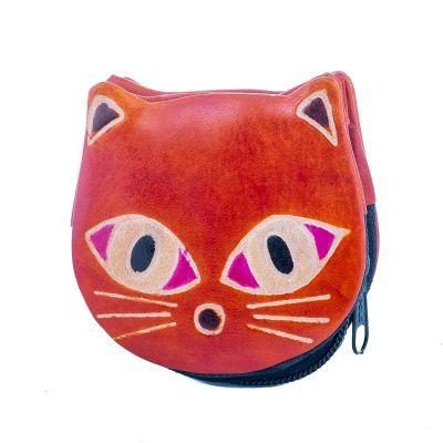 Portfel dla kota - pomarańczowy
