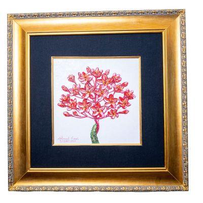 Obraz różowego drzewa
