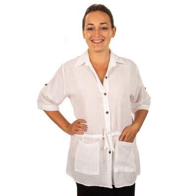 Koszula damska Sumalee biała   NA NIEJ