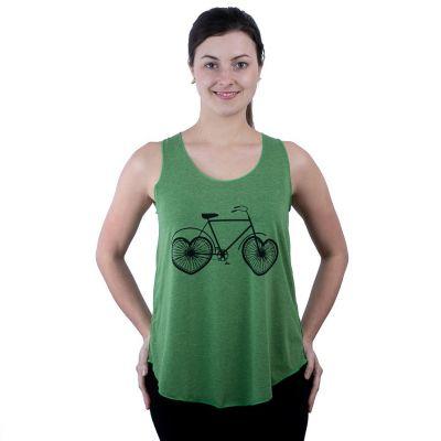 Koszulka bez rękawów Darika Love Bike Green