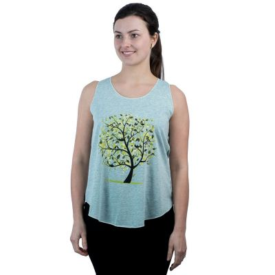 Darika Meadow Tree Zielonkawy podkoszulek na ramiączkach
