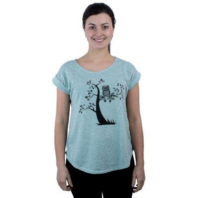 Koszulka Darika Solitary Owl Greenish