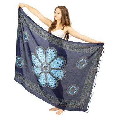 Sarong Flower mandala niebieski