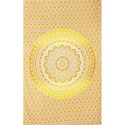 Narzuta Mandala - beżowo-żółta