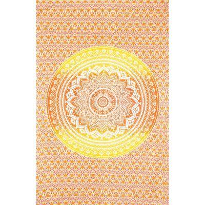 Narzuta Mandala - czerwono-żółta