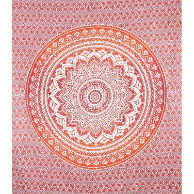 Pled Mandala - czerwony