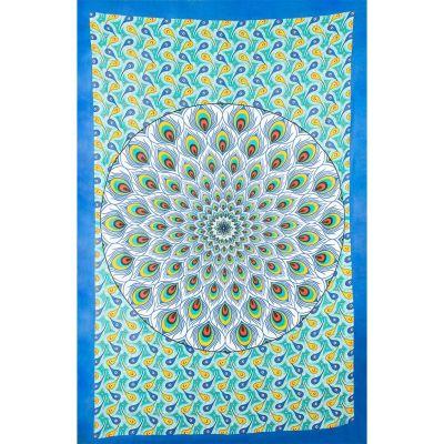 Nakładka na mandalę Paw - zielono-niebieska