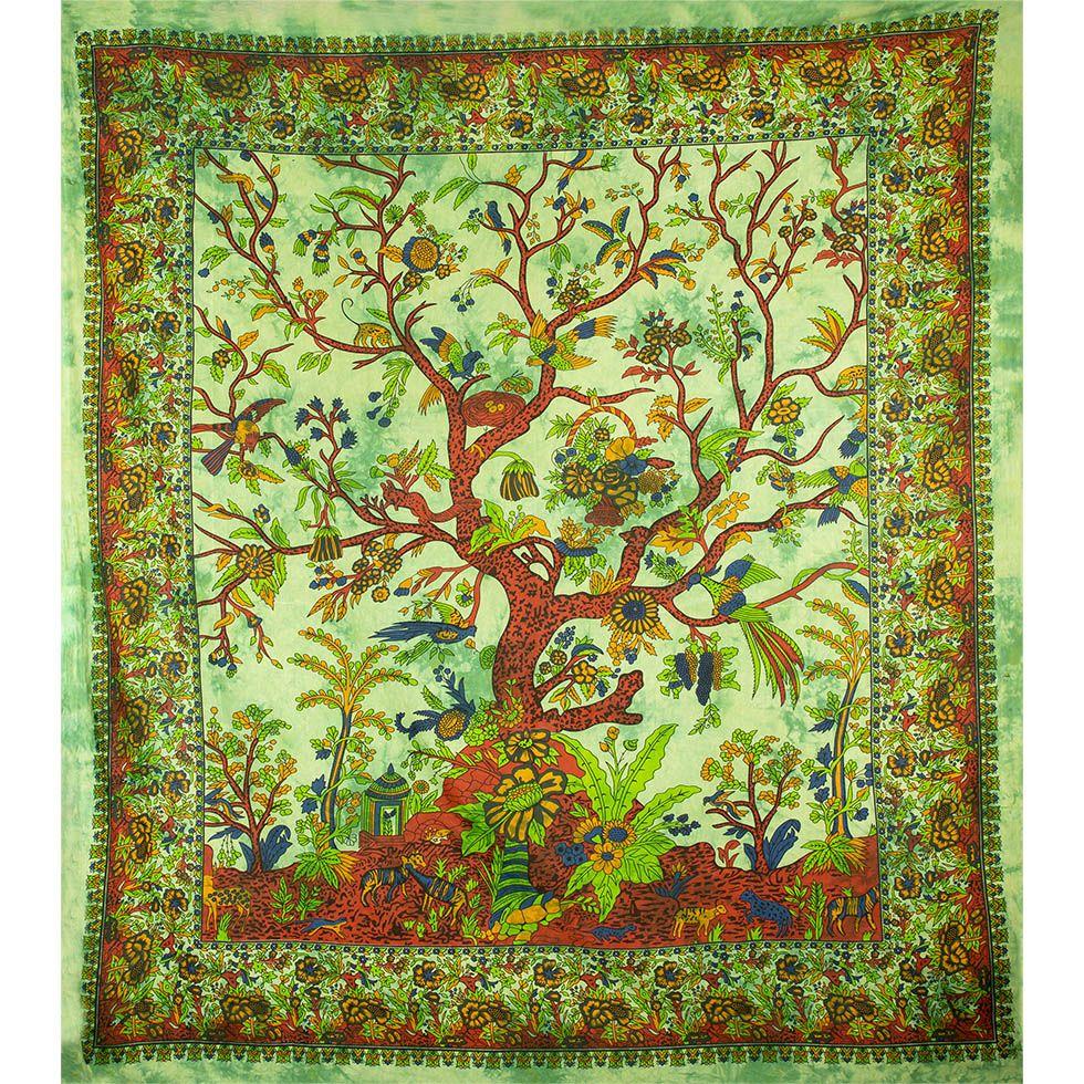 Bawełniana narzuta Drzewo życia India
